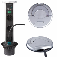 POWERPOD ar 3 rozetēm un USB, ALU