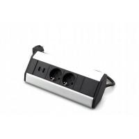 CORNER BOX ar 2 ligzdām+USB