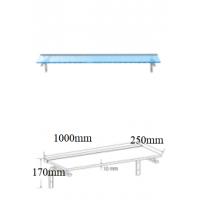 Stikla plaukts ar LED apgaismojumu 1000mm
