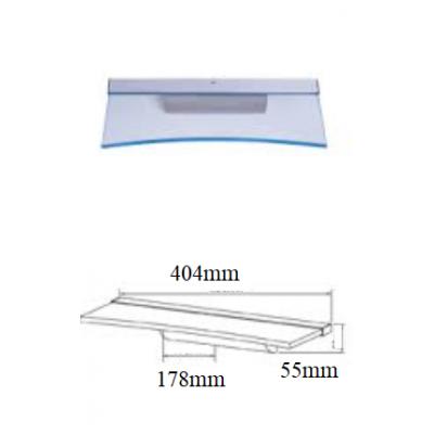 Stikla plaukts ar LED apgaismojumu 400mm C-veida